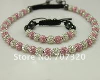 45 OFF Chirstmas Jewelry Set Gift Shamballa Bracelet Necklace For Clay Crystal Beads Free Shamballa Earring