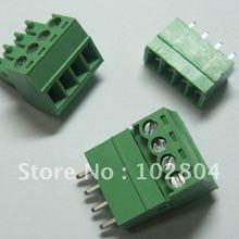 60 шт. 4pin/шаг пути 3,81 мм Винт Клеммная колодка Разъем зеленый цвет Т Тип с pin