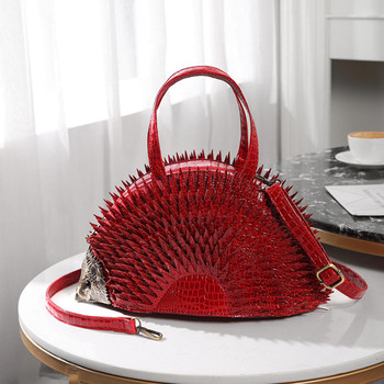 Personality design simulation Hedgehog styling bag creative cute diagonal Novelty Brand Messenger Gothic Bags Handmade Bag