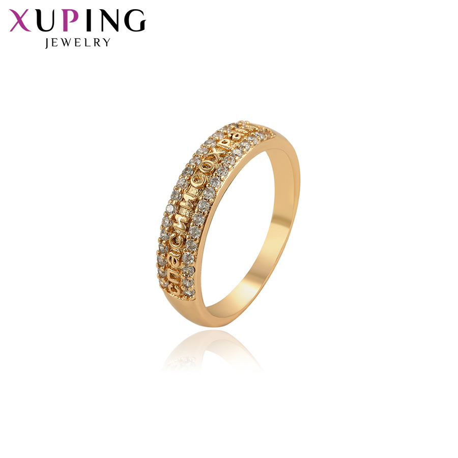 Xuping New Arrival Jewelry Gold Color Plated Wedding New Year's Eve Gifts Vintage Rings for Women S101-15880
