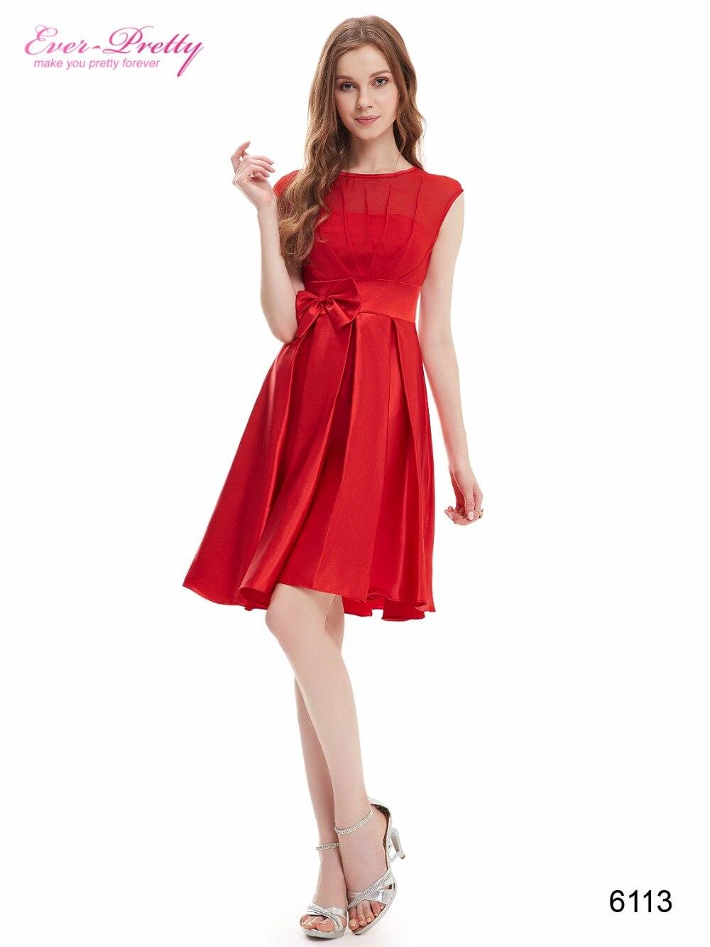 [Clearance Sale] Elegant Cocktail Dresses Ever Pretty HE06113 Women Satin Short Dresses Sexy vestidos cortos de cocktail Size 14