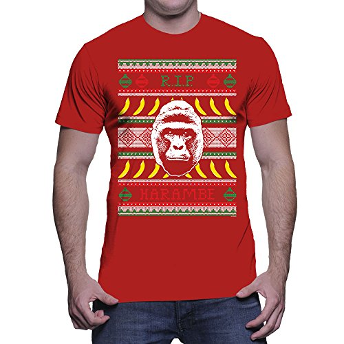 Make Your Own Shirt Men'S Mens Rip Harambe Ugly Christmas Sweater ...