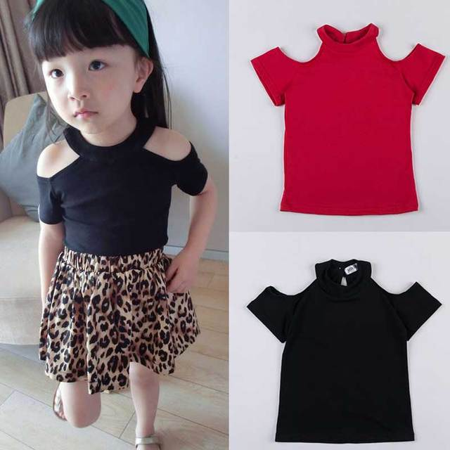 New 2016 Design Hollow Out Kids girls T shirt Short sleeve children t shirts for girl top clothes clothing Summer Spring