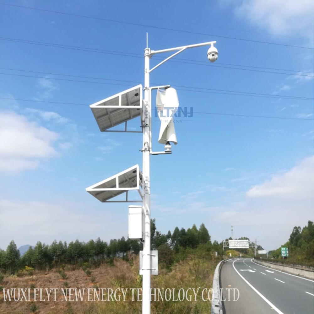 Générateur de vent à axe vertical 300 w 12v24v avec contrôleur automatique MPPT 12 v 24 v générateur d'éolienne Maglev démarrage 1.3 m pas de bruit - 4