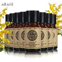 AKARZ skin body care value sets Tea Tree+Jasmine+Castor+Vetiver+Grapefruit+Cinnamon+Basil+Violet essential Oils 10ml*8