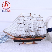 LUCKK 70 60 CM FRAG HTA SIGIO DIY Model Ships Home Interior Patchwork Decoration Accessories Wood Crafts Nautical Retro