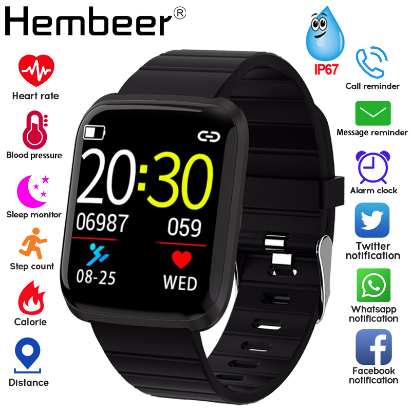 Smart-Watch Fitness-Tracker Heart-Rate-Monitor Blood-Pressure-Measurement Fitbits Android