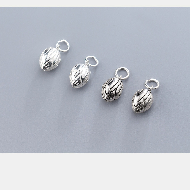 Uqbing 100% 925 пробы серебряные Винтажные бусины «Лотос» амулеты