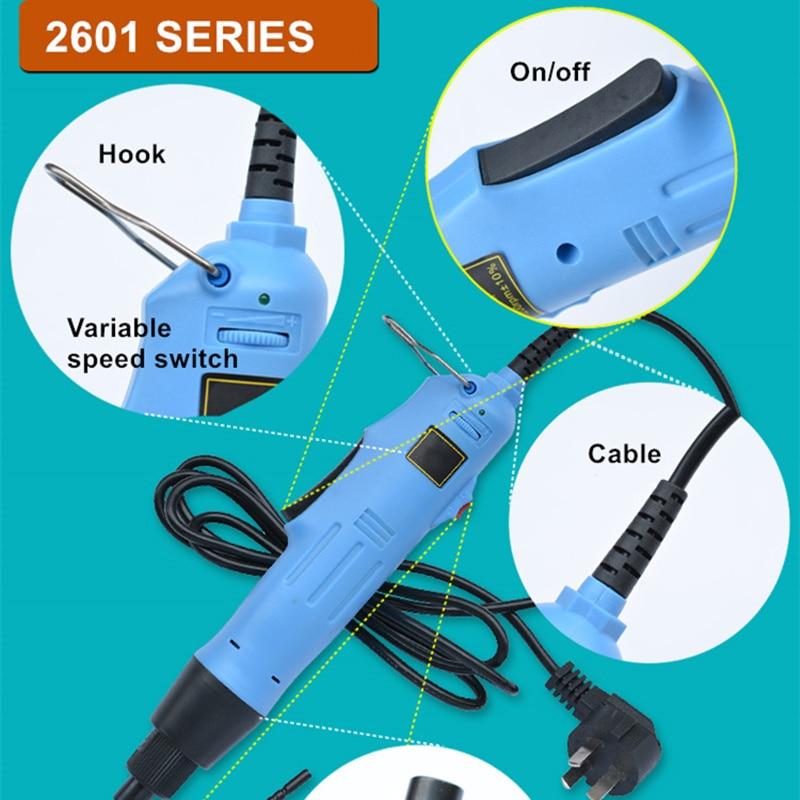 220-240v cacciavite elettrico spina dritta regolazione della coppia a - Utensili elettrici - Fotografia 6