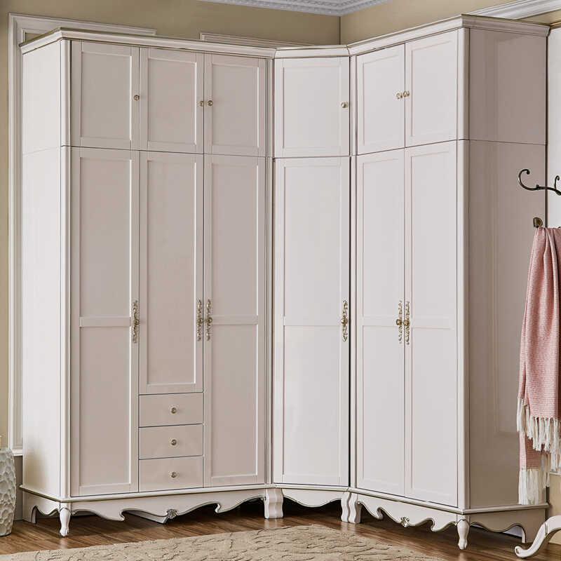 european Style Bedroom Wardrobe,corner Wardrobe, 6 Door ...
