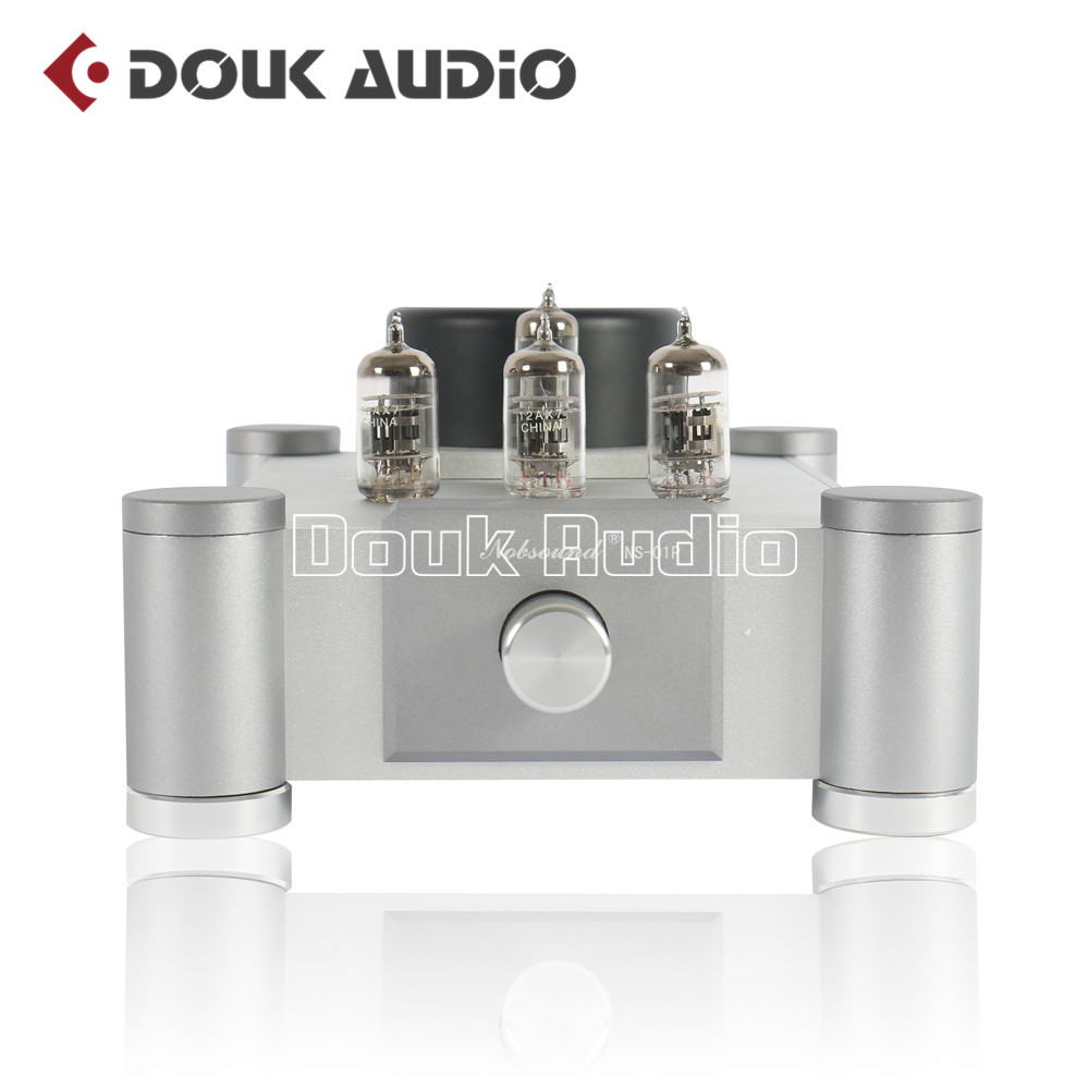 2018 Latest Nobsound 12AX7 Vacuum Tube Preamplifier Audio Stereo HiFi Single-ended Tube Amplifier Pre-Amplifier Ref Marantz 7 1pcs high quality little bear p5 stereo vacuum tube preamplifier audio hifi buffer pre amp diy new
