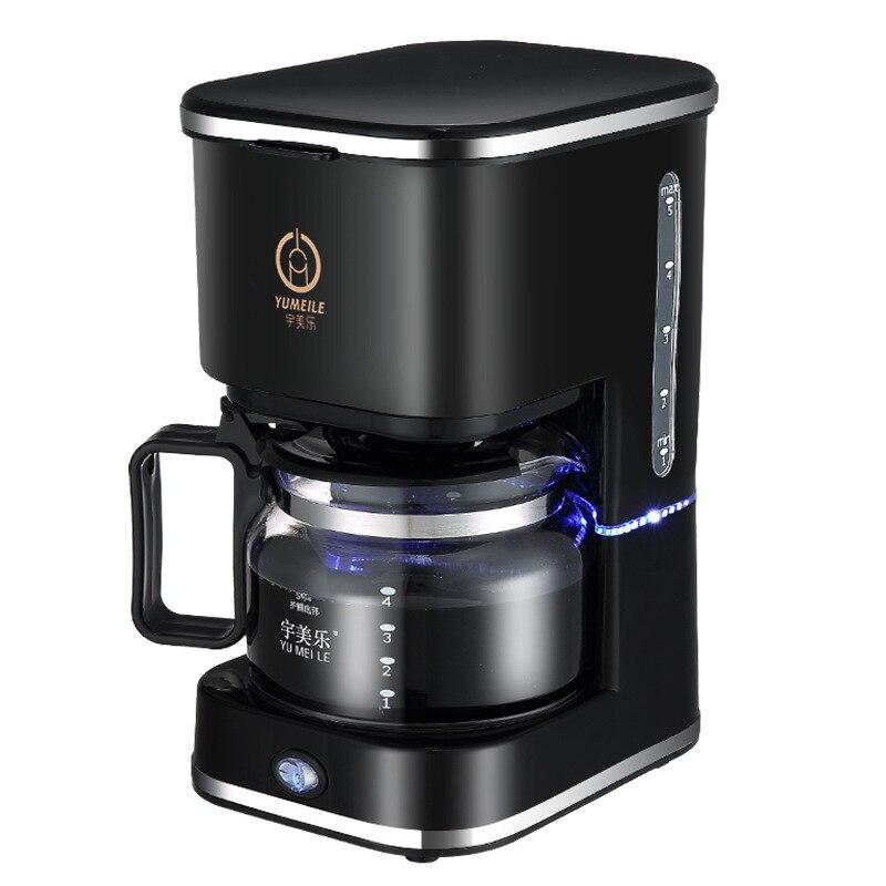 Portable Coffee Maker Automatic American Drip Coffee Machine 5 Cups Coffee Makers 220V for Coffee and