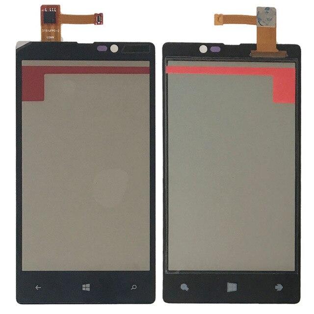 Черный Для Nokia Lumia 820 Передняя Панель Сенсорного Экрана Digitizer Стекло Замена