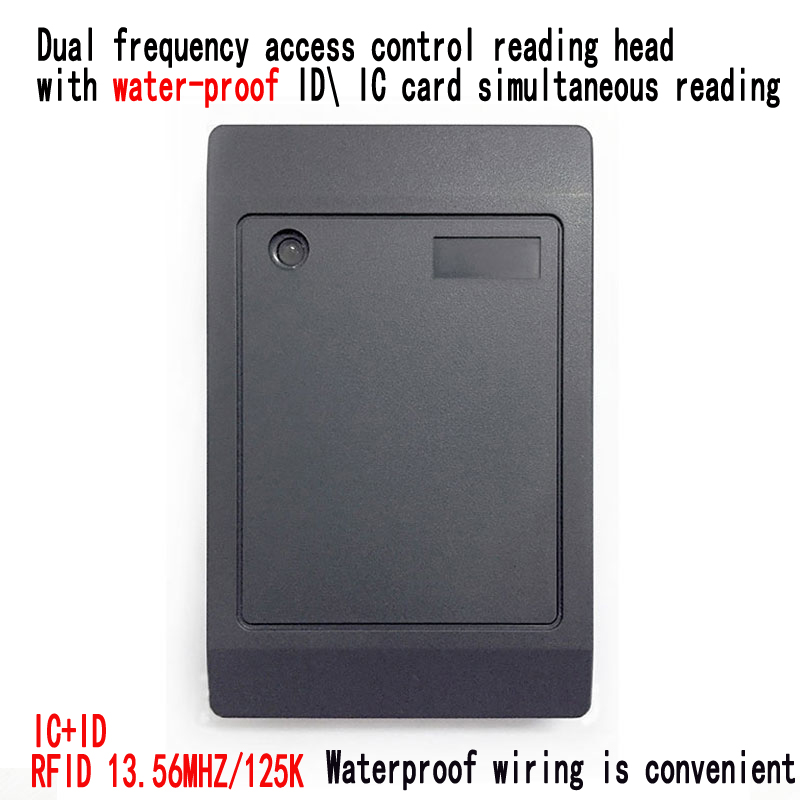 5pcs Waterproof dual frequency access control card reader RFID card reader and Wigan13 56MHZ 125Khz Reader