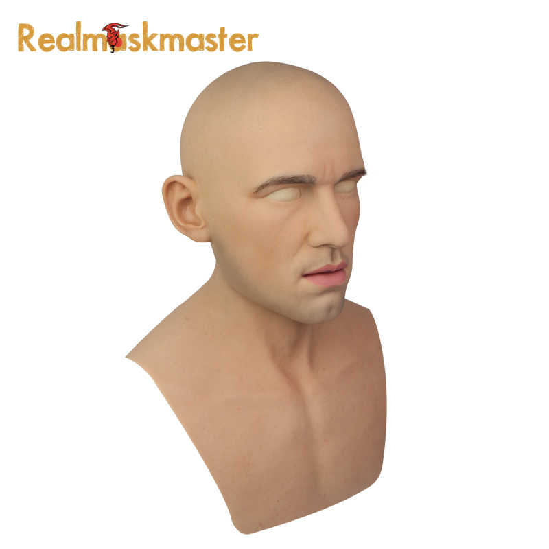 Realmaskmaster взрослый латексный, реалистичный маскарадный Силиконовый маска для человека полное лицо вечерние Вечерние Маски Фетиш настоящая кожа