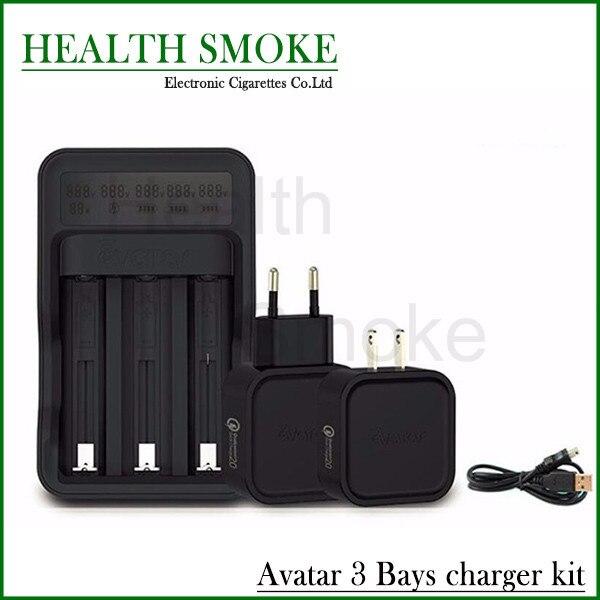NOVO Avatar 3 Baysntelligent IOriginal Digicharger Kit Carregador de Bateria para 18650 26650 Bateria Quase Todas As Baterias Recarregáveis