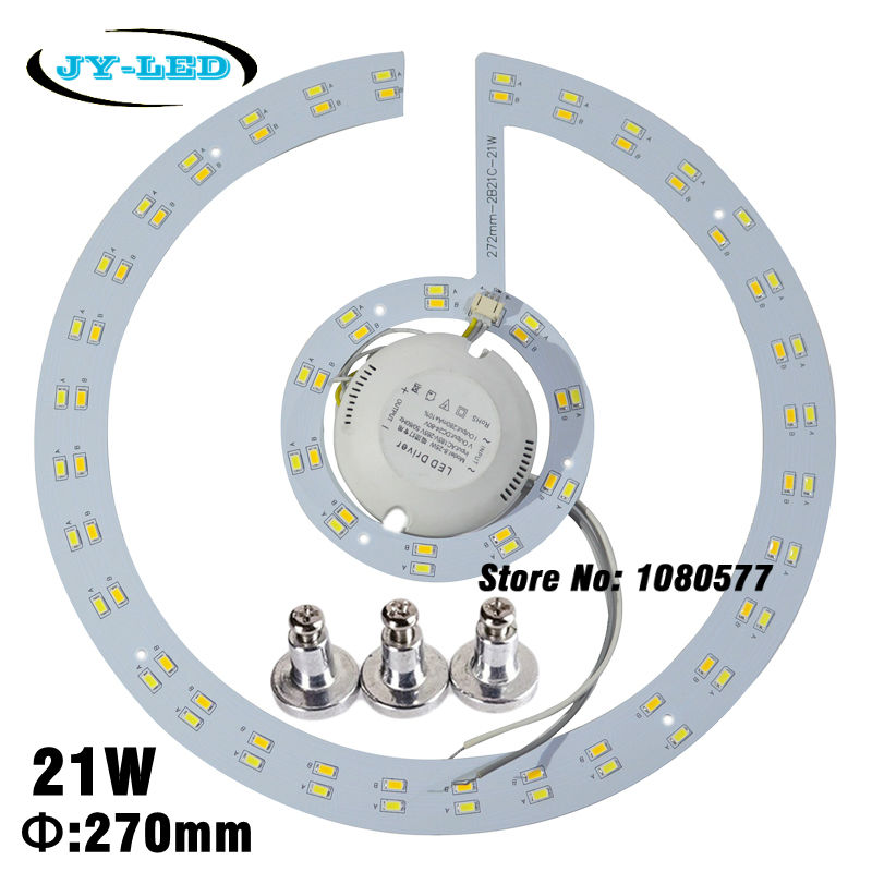 где купить 21W/42W 270mm LED Ceiling Light Board Round Panel Double Color SMD5730 Lamp Plate + Magnet Screw + Driver по лучшей цене