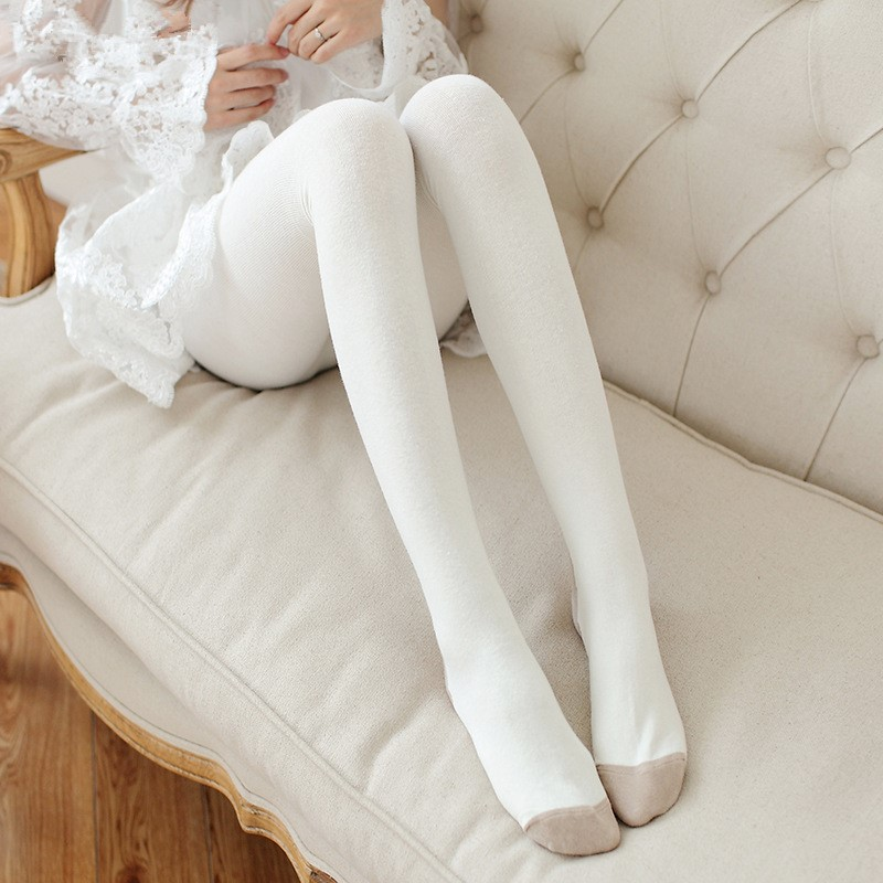 Autumn Winter Women Sexy Cotton Tights Solid High Waist Elastic Cartoon Pig Stockings Slim Warm Thick Tights Pantyhose Female