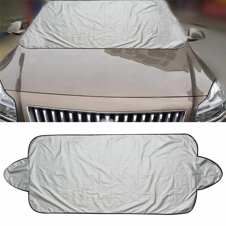 New 1PC Aluminium Film Waterproof Car Snow Ice Protector Visor Sun Shade Fornt Rear Windshield Cover Block Shields 150 x 70cm