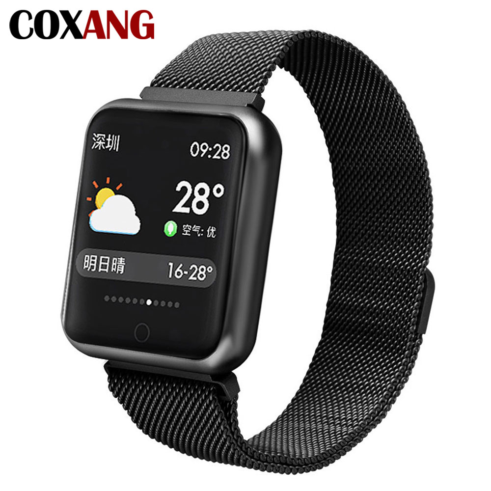 $27.76 COXANG P68 Smart Watch For Men Blood Pressure Pedometer Activity Tracker IP68 Waterproof Smartwatch For Apple IOS Iphone Android