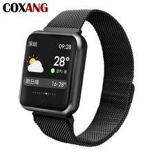 Купить с кэшбэком COXANG P68 Smart Watch For Men Blood Pressure Pedometer Activity Tracker IP68 Waterproof Smartwatch For Apple IOS Iphone Android