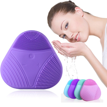 Face Cleaning Brush Mini Electric Massage Washing Machine Waterproof Silicone Cleansing Tools Deep Brushes