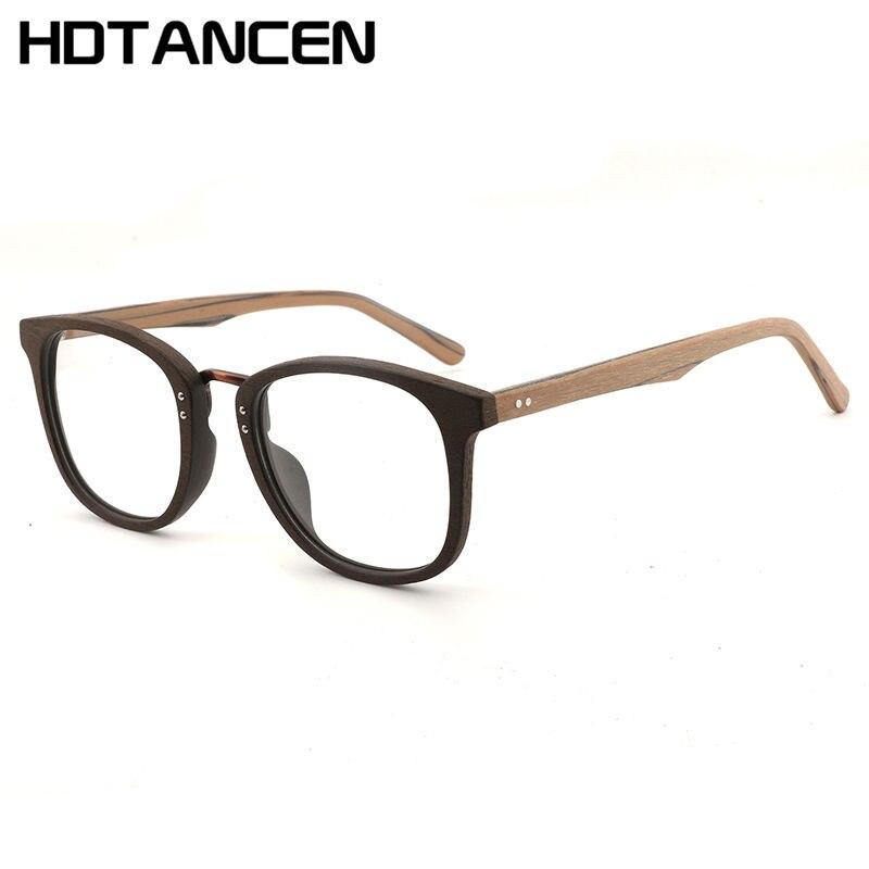 HDTANCEN miroir plat bois lunettes de soleil hommes bambou lunettes de soleil cadres optiques femmes bois grain plaque Art plaine lunettes de soleil à la main fa