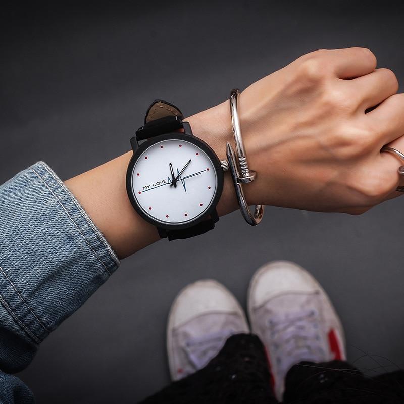 Casual Women Watches Couple Lover Watch Wrist Quartz Watch Men Wrist Ladies Clock Gift For Girls MY LOVE Hour Relogio Femenino