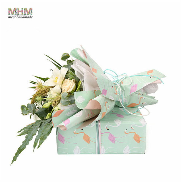 Mhm 5070cm flamingo oil painting paper bouquets of flowers gift mhm 5070cm flamingo oil painting paper bouquets of flowers gift wrapping paper packaging materials mightylinksfo