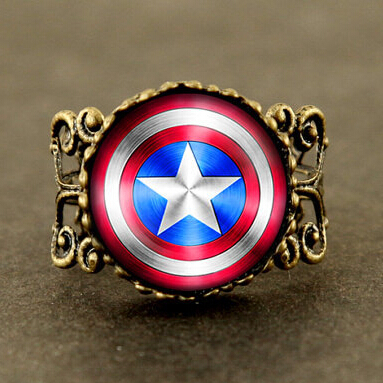 Us Movie Captain America Ring Avengers Age Of Ultron 1pcs