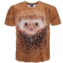 Spring Summer Fashion Casual Men/Women's 3d t-shirt funny printed Hedgehog top tees Tshirt Male T shirt clothing Plus S-6XL R16