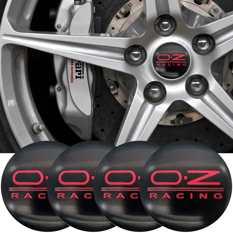 4Pcs 56mm O.Z OZ Racing Logo Car Emblem Wheel Center Hub Cap Badge Covers For VW POLO Beetle Golf 4 5 6 7 Passat B5 B6 B7 GTI image