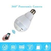 WI FI 960P 1080P Wireless IP Camera Bulb Light FishEye Smart Home CCTV 3D VR Camera