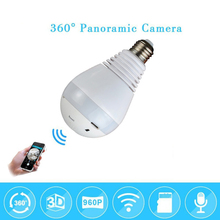 hot deal buy wi-fi 960p 1080p wireless ip camera bulb light fisheye smart home cctv 3d vr camera 1.3mp home security wifi camera panoramic