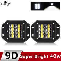 """CO LIGHT 9D 80W LED Work Light Bar 5"""" Strobe Driving Fog Flood Light DRL Offroad Led Work Lamp for Trucks SUV ATV Led Light Bar"""