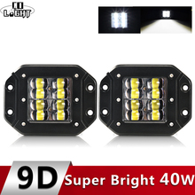 CO LIGHT 9D 80W LED Work Light Bar 5 Strobe Driving Fog Flood DRL Offroad Led Lamp for Trucks SUV ATV