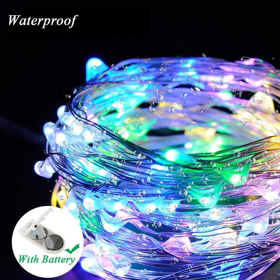 Copper Wire LED String Lights 1M 3M 5M Holiday lighting Fairy Lights Christmas Garland For New Year Wedding Party Decoration