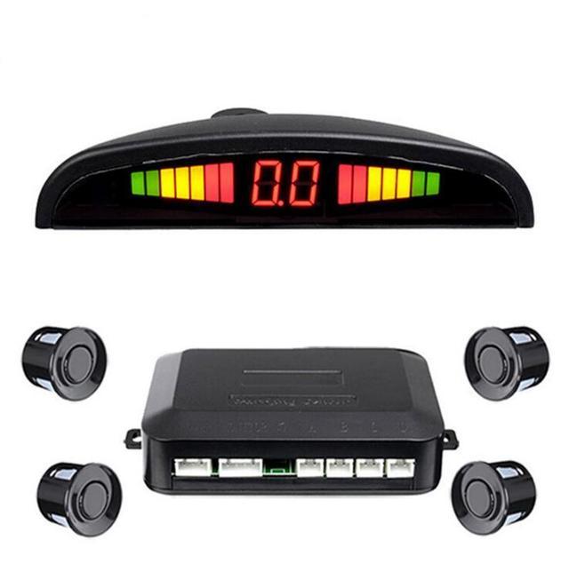 parking assistant system PS-01 with 4 sensors system 12V LED display indicator car parking sensor car auto reverse radar kit