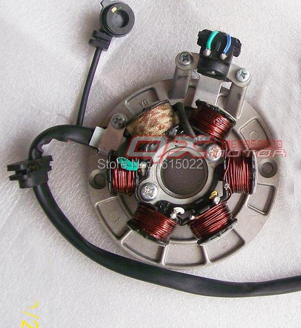 Magneto estator de ajustar a ( YX YINXIANG 140cc Kick start motor ) KAYO eeb Pit Pro Automic Dirt Pit Bike eléctrico envío gratis