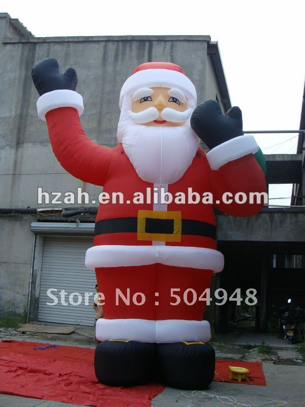6m Outdoor Inflatable Christmas Santa Advertising