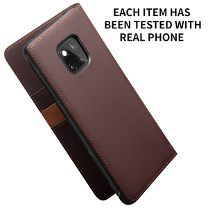 Image 5 - QIALINO Luxury Genuine Leather Phone Cover for Huawei Mate20 Pro Stylish Handmade with Card Slots Wallet Flip Case for Mate 20/X
