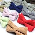 Nueva Pajarita para Los Hombres de Moda de Lana Clásico Sólido Bowknots Novio Pajarita Corbata Para Partido Unisex Para Hombre Vestidos Pajaritas Corbata
