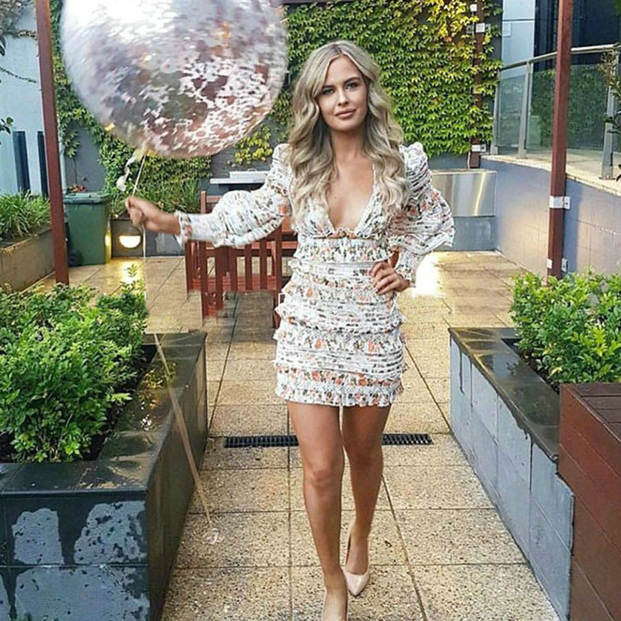 b57b6eb12a8d Vestito Con Yd Delle Nuovo Flower Fuori Scava Della Stile Sexy Qualità Alta  Estate A Boho Manica Di ...