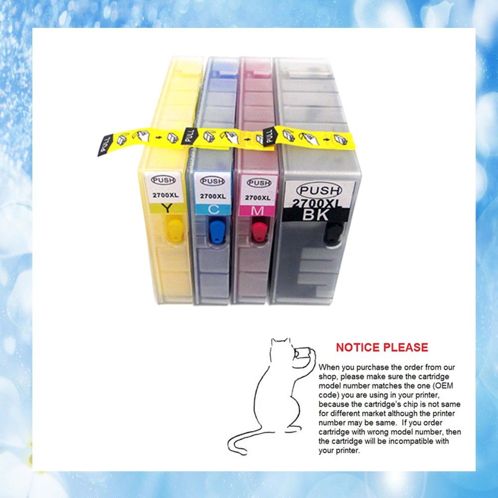 1set Full pigment ink PGI 2700 Refill ink cartridge PGI 2700XL for canon MB5070 MB 5070