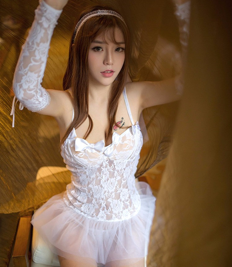 c3fe3a56205 Women Bride Lingerie Sexy Hot Erotic Lace Wedding Lingerie White See  Through Costumes Role Play Sexy Lingerie Halloween costumes-in Holidays  Costumes from ...