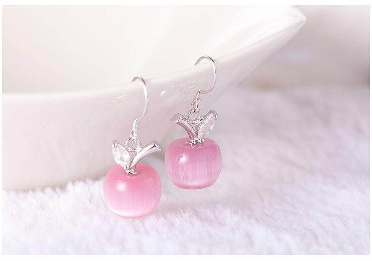 Μόδα ροζ Λευκό μήλο Opal πέτρα - Κοσμήματα μόδας - Φωτογραφία 3