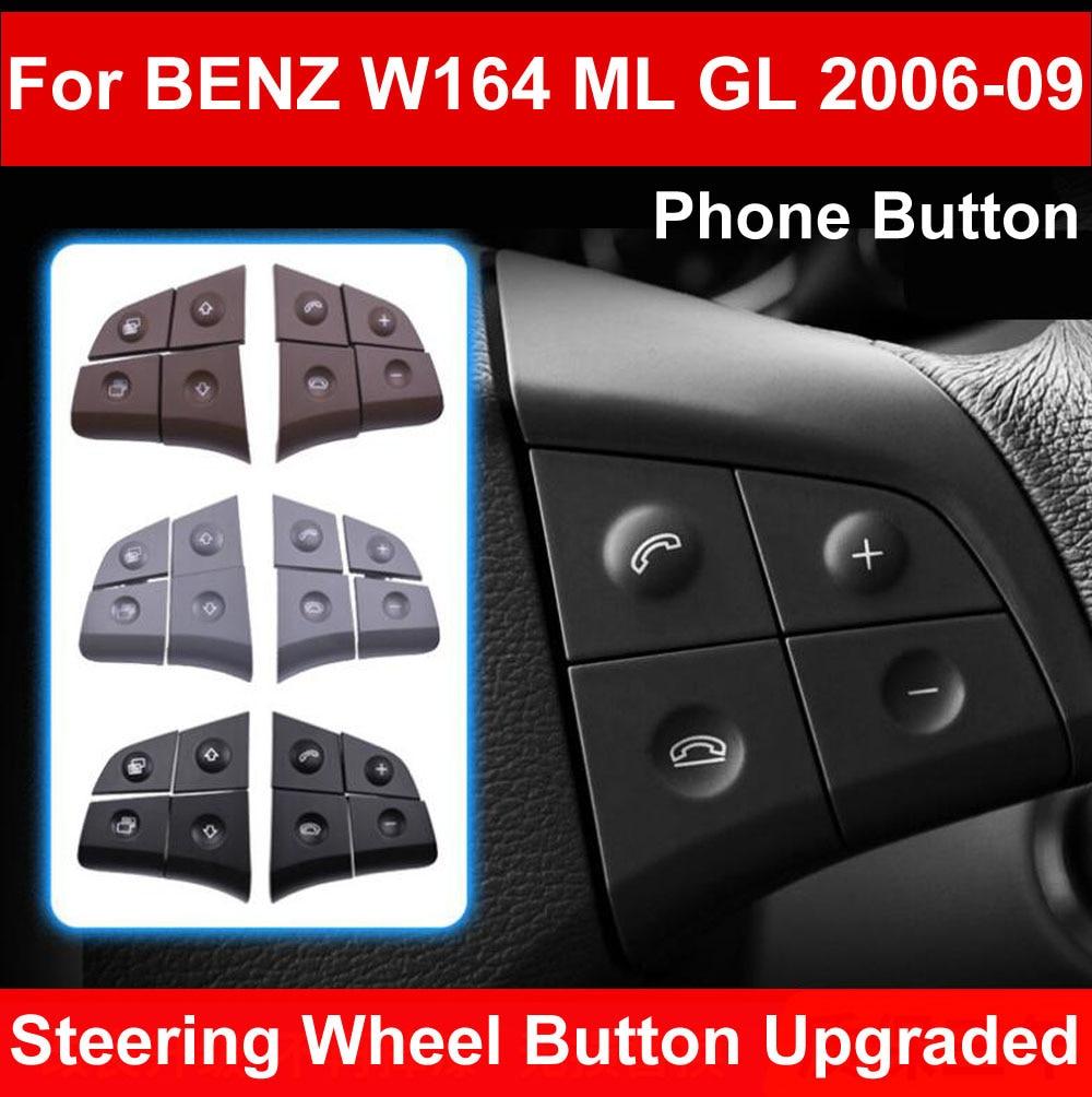 Yootobo auto multi-função volante botão esquerdo direito telefone chave de controle para mercedes benz w164 ml gl300/350/400/450 06-09