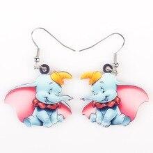 Newei Long Drop Brand Lovely Dumbo Elephant Earrings Acrylic New  Jewelry Girls Women Cartoon Children Earrings Accessories
