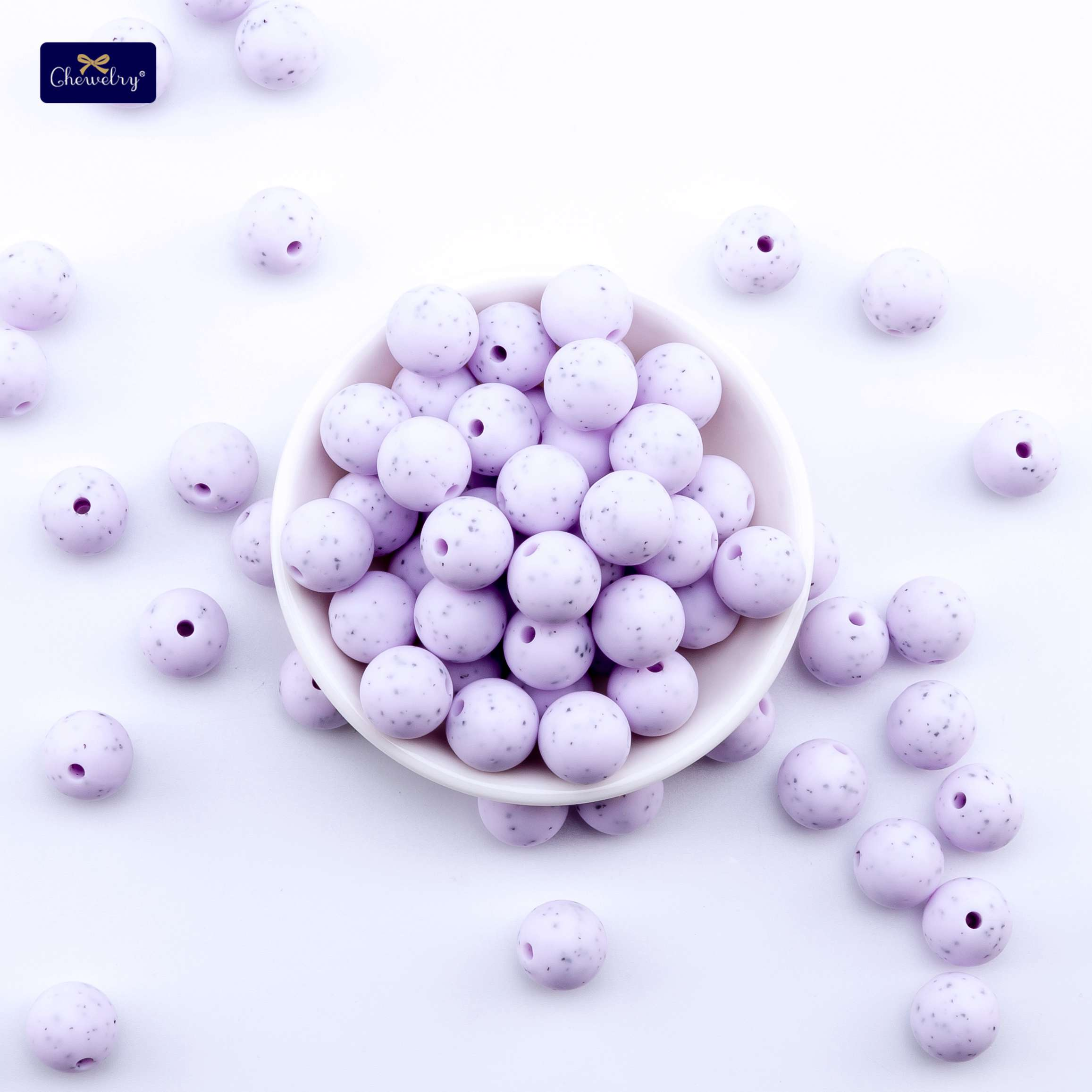 30pc 12mm Silicone Beads Teething Chew Round Sesame Beads Food Grade Baby Teether Necklace Perle Silicone DIY Pacifier Chain Toy