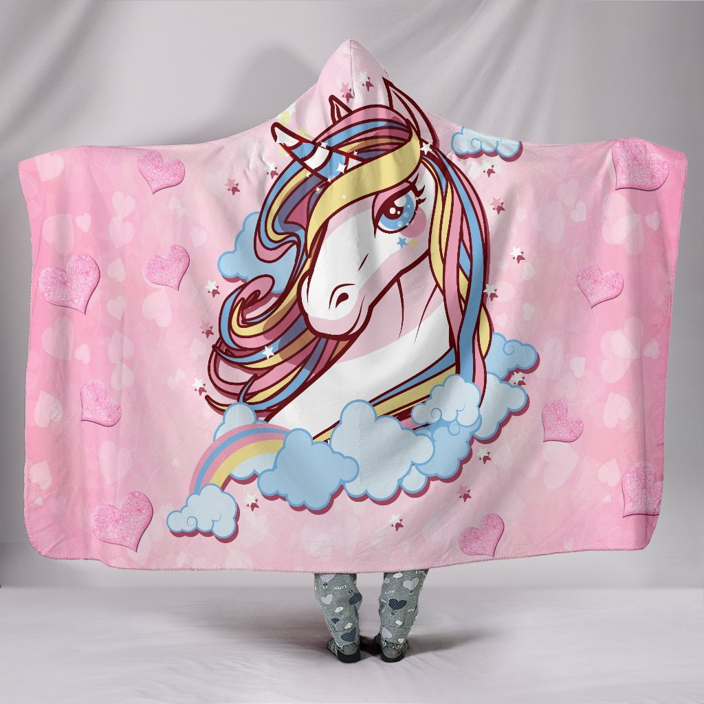 Unicorn Rainbow Hooded Blanket unisex 3D hoodie blanket woman fashion new 2019 cloth coat spring winter cloth women